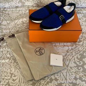 NIB Auth Hermes Men's Run Sneakers Sz/41